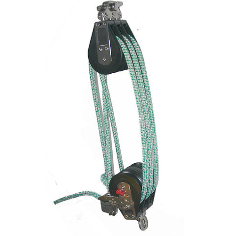 92633-34 R| 6:1 mainsheet System set of blocks- 75mm sheave. With pre-stretched mainsheet rope.