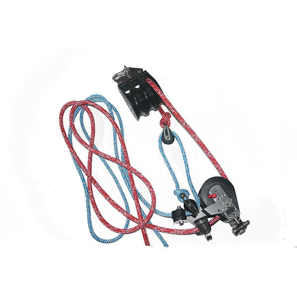 12:1 mainsheet System set of 75 mm sheave with rope | Nautos Usa