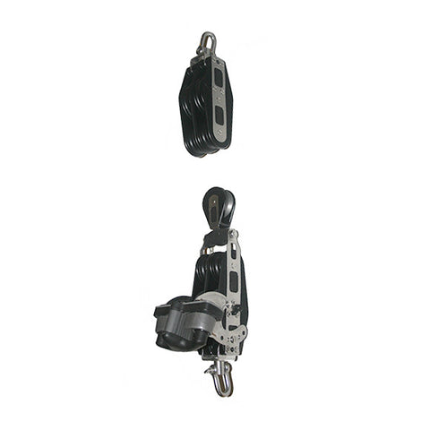 92747-240   9:1/ 5:1 Mainsheet blocks-Double speed - Ratchet with double aluminum cam cleat.