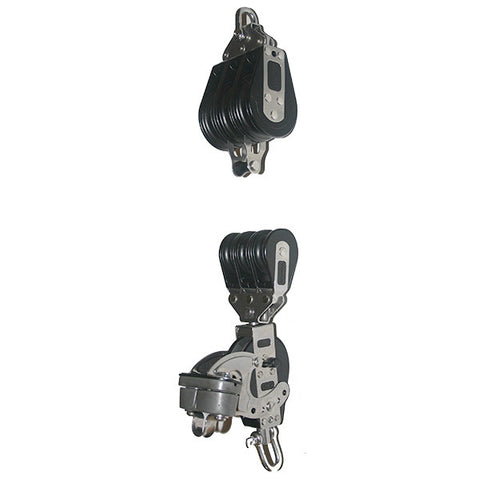 92773-335   7:1 Mainsheet blocks set - Ratchet with aluminum cam cleat.