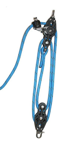 4:1 Mainsheet System set - Plain line blocks- 45mm sheave. Rope included