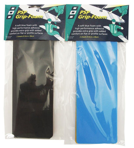 Grip Foam with a high performance waterproof adhesive -Grey or Blue - PSP tapes
