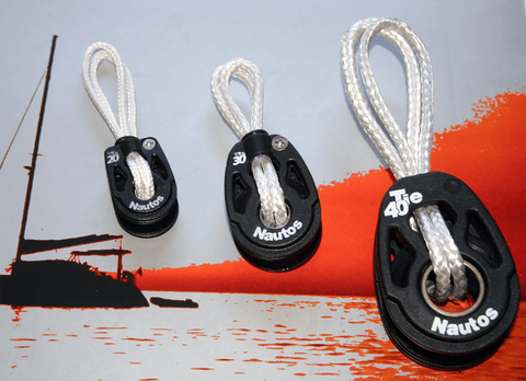 Plug and Sail Loop - Dyneema line and Nautos Block - 20 - 30 - 40mm Sheave Diameter Blocks