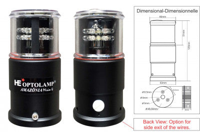LED NAVIGATION LIGHT - OP5000 - AMAZONIA MIRIM 4 -SW - INTEGRATE BI-DIMENSIONAL LIGHT 5 IN 1 | Nautos-usa