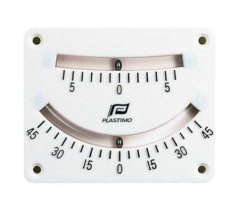 Clinometer Twin Scale - Item 51494 - 6° and 45° Double Reading -1° graduation, up to 6° or 5° graduation, up to 45° by Plastimo