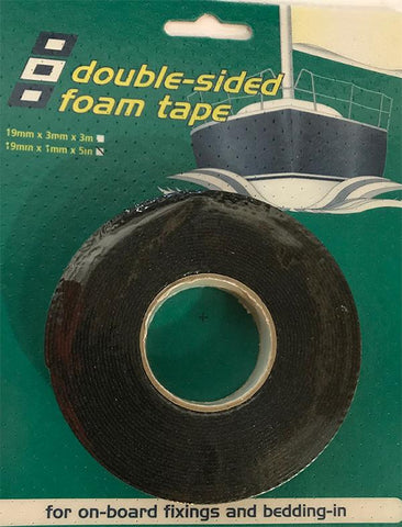 Double Sided Vinyl Foam Tape - P819050020 - Black - PSP Tapes