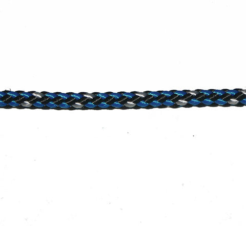 Doublebraid Polyester-LRSEC - POLYLOCK - 4MM - BLUE/WHITE/BLACK
