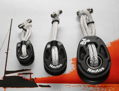 High Load Dyneema Soft Shackle With Ultralight Tie Nautos Block.
