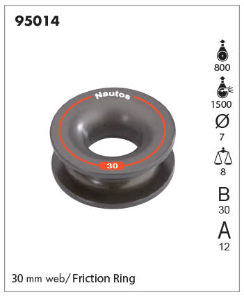 95014- Friction sheave - 30 MM SOLID SHEAVE- WEB - TIE SHEAVE - CONTROL LINE EYE