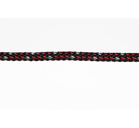 LRSEC - POLYLOCK - DOUBLEBRAID  - 4MM - RED/WHITE/BLACK