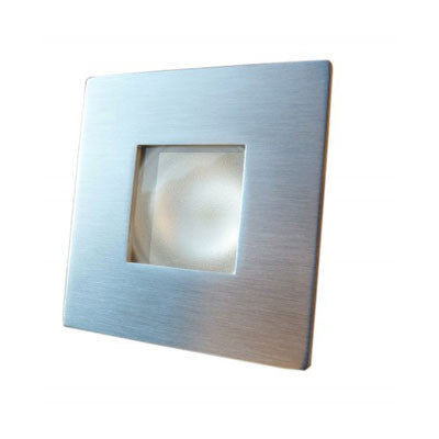 OP5007 A - SPOT TONGA - BICOLOR ( WHITE / RED) - LED -STAINLESS STEEL MATT  BRUSHED