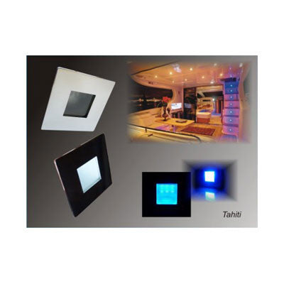 "OP5012 -SURFACE COURTESY LED SPOT ""Tahiti"" - SS BRIGHT POLISH - BLUE LIGHT"