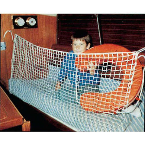 "Bunk Net  Plus Set - Anti Roll Net - 210 cm x 70 ~ 7' x 28"" Polyester Line - With Hooks And Screws - 416838"