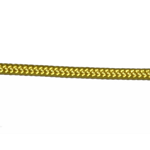 "Rope 6 MM   - 1/4""  SOLID YELLOW - POLYESTER /POLYESTER -item MRDB027 -  SELL BY FOOT"