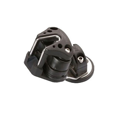 SF HT5566- SWIVEL BASE  WITH PLASTIC EYE AND ALUMINUM CAMCLEAT WITH FAIRLEAD