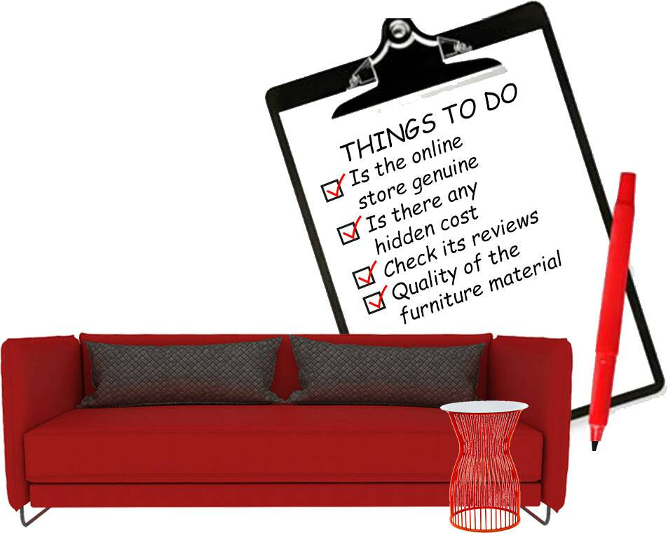 Online furniture shopping checklist