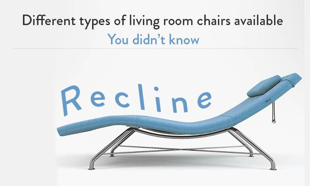 Did you know that there are so many different types of living room chairs?