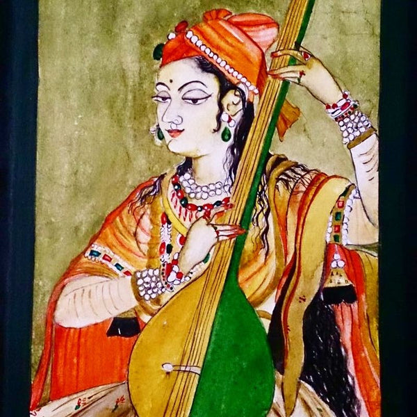 Indian Lady Painting Big