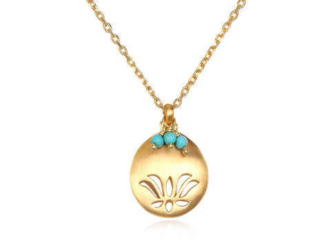Lotus Birthstone Necklace - December