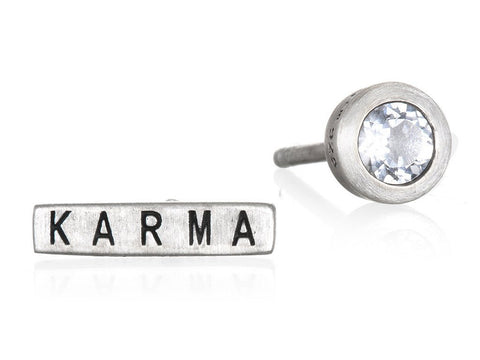 Magical Karma Silver Earrings