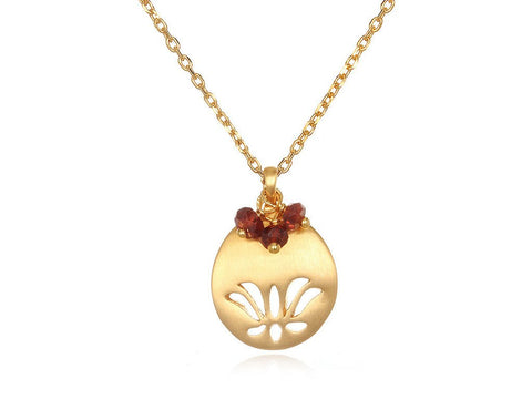 Lotus Birthstone Necklace - January