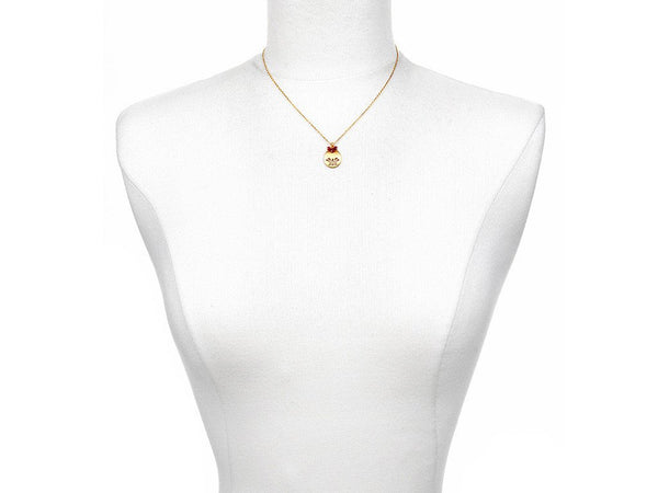 Lotus Birthstone Necklace - July