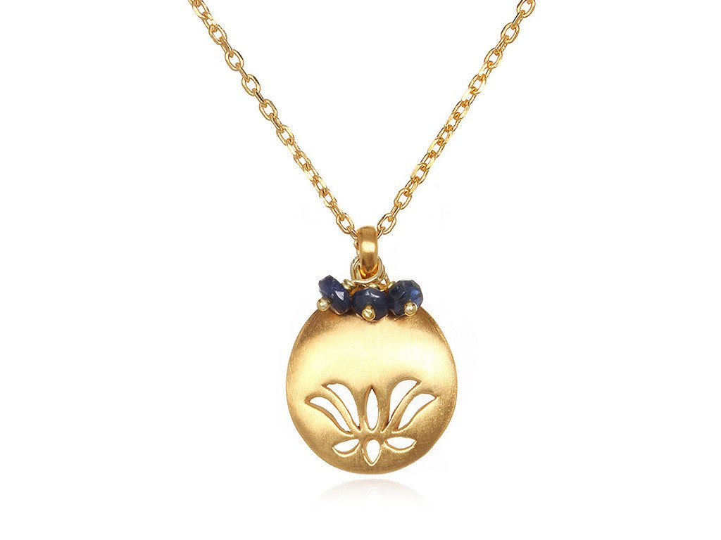 Lotus Birthstone Necklace - September