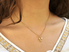 Collar Bone & Cristal - Gold