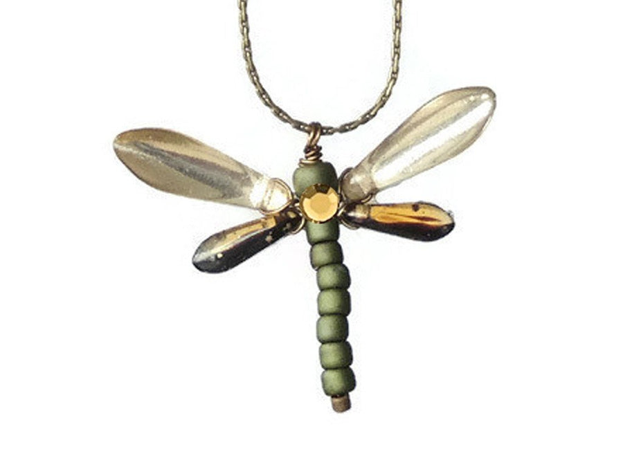 Collar Gold Metallic Dragonfly