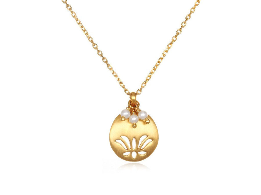 Lotus Birthstone Necklace - June