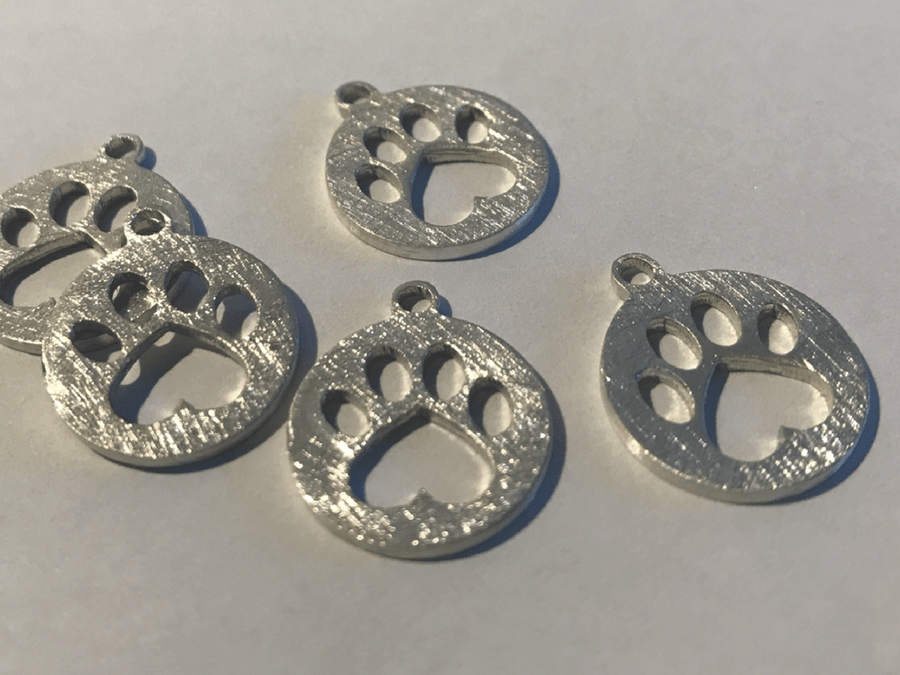 Collar Love Paw - Plata