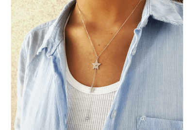 Collar Cascada Doble Star