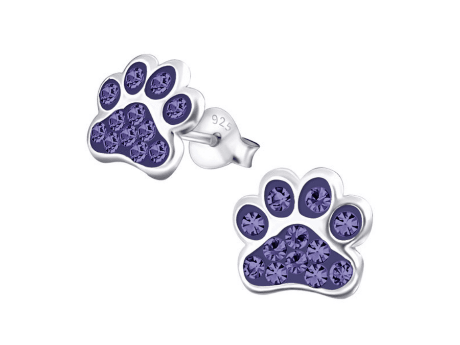Aros Mini Sparking Paw Print - Tanzanite