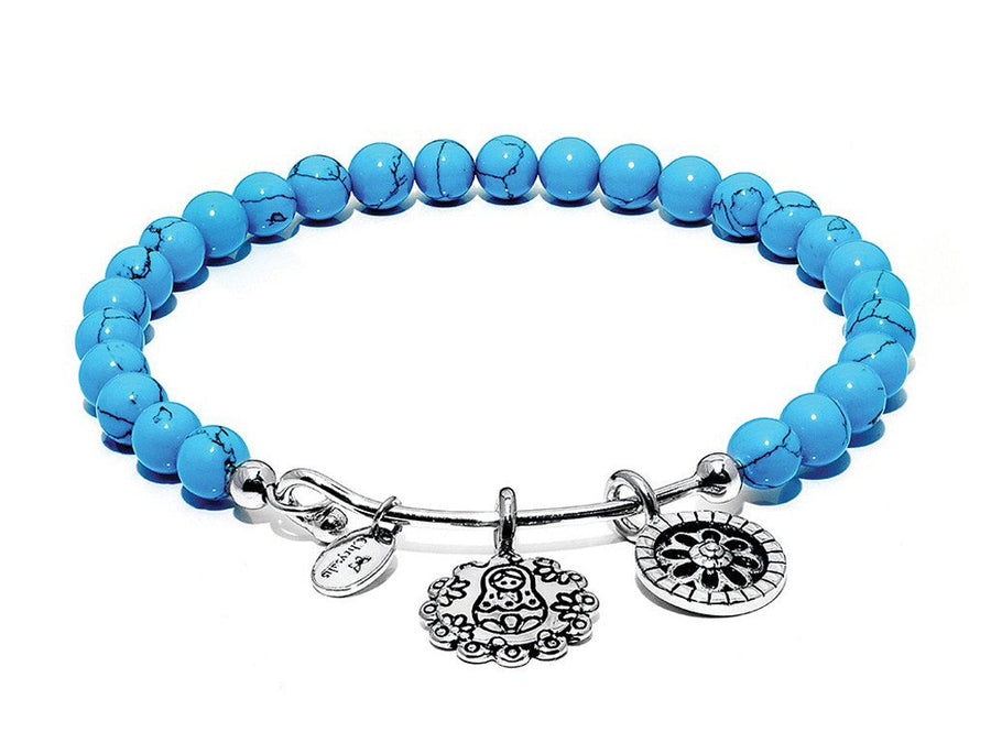 Turquoise Mother Doll Bangle
