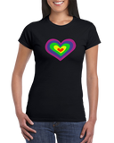 PSYCHEDELIC HEART Womens Tee