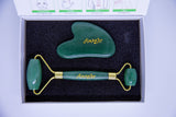 Luxurious Jade Roller and Guasha Set
