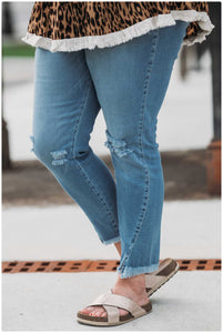 Curvy KanCan High Rise ANkle Skinnies