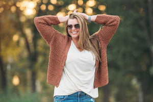 Crochet Button Down Cardigan