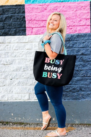 Busy being Busy tote