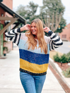 Funky & Chunky Yarn Oversized Sweater