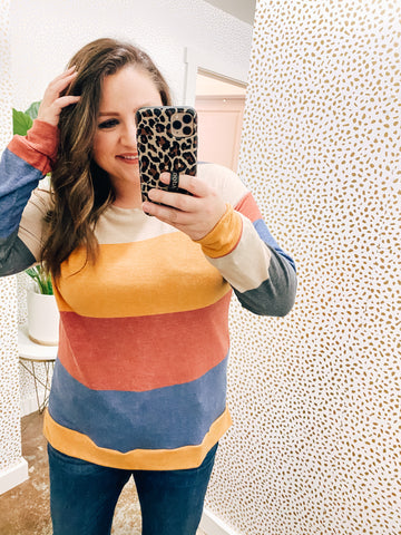 Long Sleeve Fall Stripe Top