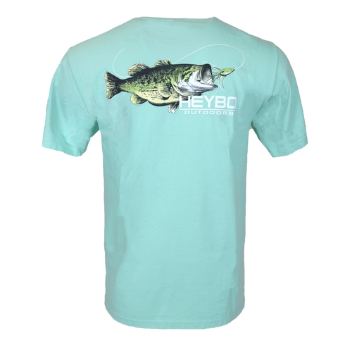 Turquoise Bass Ring Spun Cotton Tee