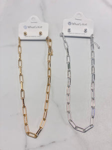 Chain link necklace (2 colors)