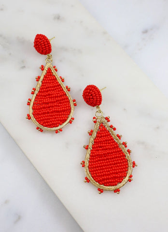 Wheatland Beaded Teardrop Earring