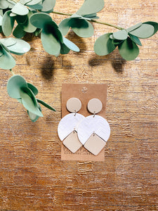 Geo Arrow Clay Earrings