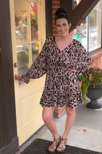 Leopard Overwrap Dress