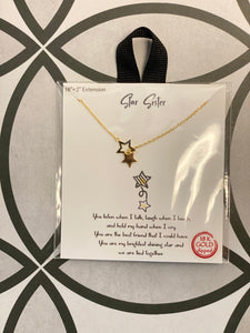 """Star Sister"" 18k Gold Dipped 16-18"" Necklace"