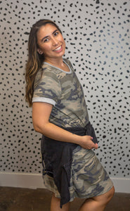 Camo Mini T-Shirt Dress