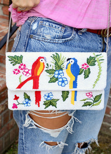Little Birdie Beaded Clutch/Crossbody Multi