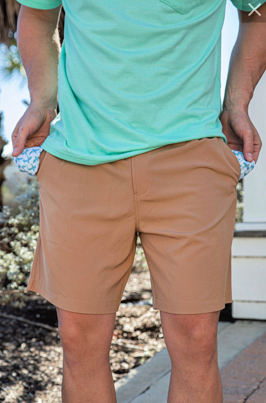 Burlebo Desert Tan Performance Shorts